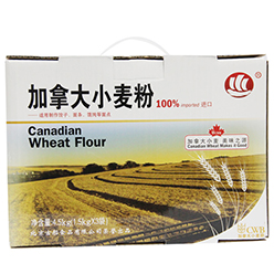 古船 加拿大小麦粉礼盒 1.5kg*3