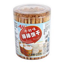 Aji牛奶味棒棒饼干220g