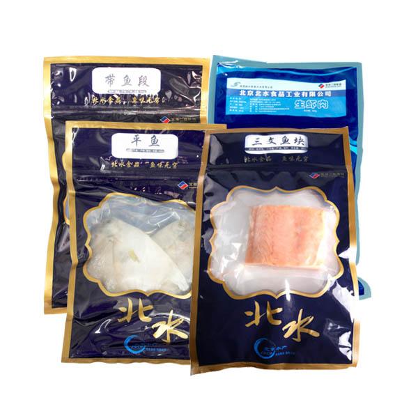 北水海鲜礼盒 jla1(生虾肉*1 三文鱼块*2 带鱼段*1 平鱼*1)