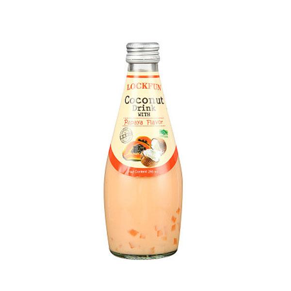 乐可芬木瓜味椰子汁饮料含椰果290ml