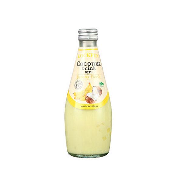 乐可芬香蕉味椰子汁饮料含椰果290ml