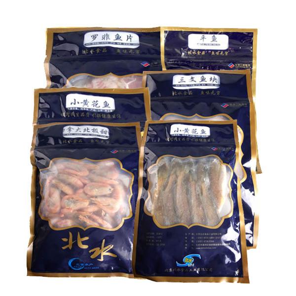 北水海鲜礼盒 JLA3(北极甜虾*1+平鱼*1+三文鱼块*2+罗非鱼片*1+国产小黄花鱼*2)
