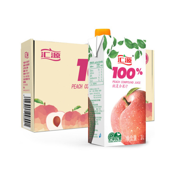 汇源 果汁 100%桃汁1L*5