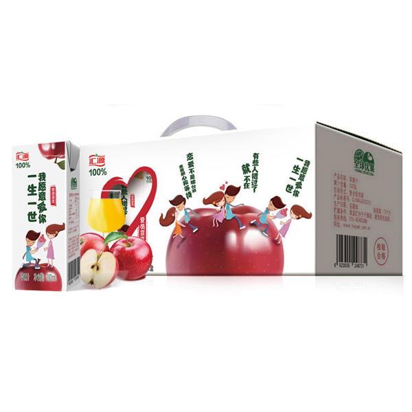 汇源爱情宣言100%苹果汁200ml*12