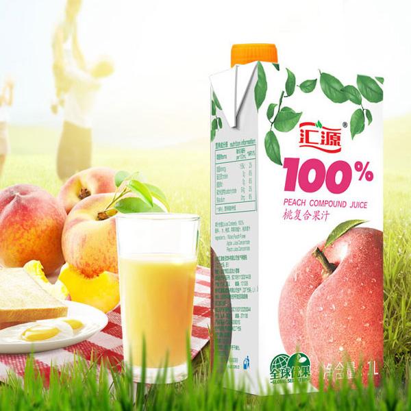 汇源 果汁 100%桃汁 1L