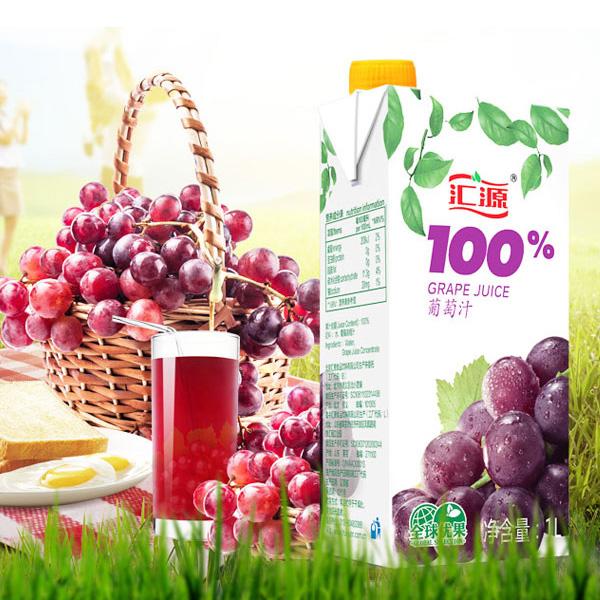 汇源 果汁 100%葡萄汁 1L