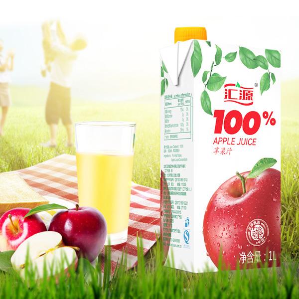 汇源 果汁 100%苹果汁 1L
